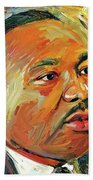 Martin Luther King Portrait 1 Beach Towel