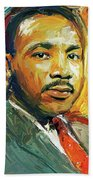 Martin Luther King Portrait 2 Beach Towel