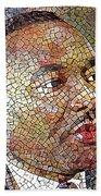 Martin Luther King Portrait Mosaic 1 Beach Towel