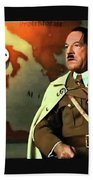 Martin Wuttke As Adolf Hitler Number One Inglourious Basterds 2009 Color Added 2016 Beach Towel