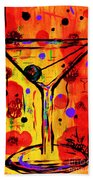 Martini Twentyfive Of Sidzart Pop Art Collection Beach Towel