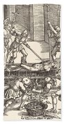 Martyrdom Of Saint Lawrence Beach Towel
