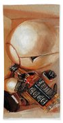 Marvin, Paranoid Android In A Box Beach Towel