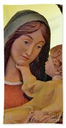 Mary And Baby Jesus Beach Towel
