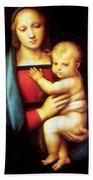 Mary And Baby Jesus Beach Towel