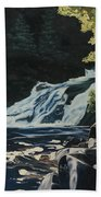 Mary Ann Falls On The Cabot Trail Beach Towel