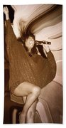 Mary Wilson Of The Supremes... Beach Towel