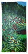 Maryann's Garden 3 Beach Towel