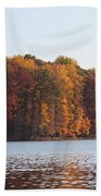 Maryland Autumns - Clopper Lake - Fall Bloom Beach Towel