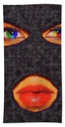 Mask Beach Towel