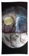 Mask Of The Moon Beach Towel