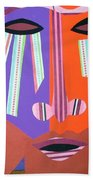 Mask With Streaming Eyes Beach Towel