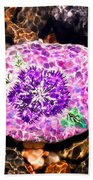 Mason's Purple Flower Beach Towel