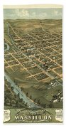 Massillon Ohio 1870 Beach Towel