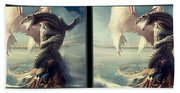 Massive Dragon - Gently Cross Your Eyes And Focus On The Middle Image Beach Towel