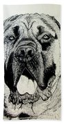 Mastiff Beach Towel