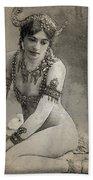 Mata Hari Sketch Beach Towel