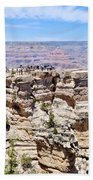 Mather Point At The Grand Canyon Beach Towel