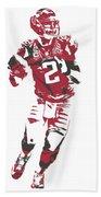 Matt Ryan Atlanta Falcons Pixel Art 6 Beach Towel