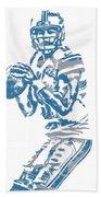 Matthew Stafford Detroit Lions Pixel Art 6 Beach Towel