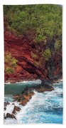 Maui Red Sand Beach Beach Towel by Inge Johnsson