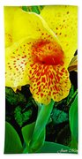 Maui Yellow Floral Beach Towel