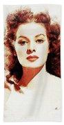 Maureen O'hara Beach Towel