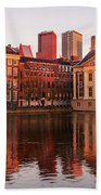 Mauritshuis And Hofvijver At Golden Hour - The Hague Beach Towel