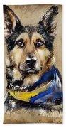 Max The Military Dog Beach Towel