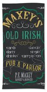 Maxey's Old Irish Pub Beach Sheet
