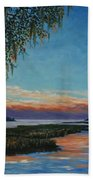 May River Sunset Beach Towel by Stanton Allaben