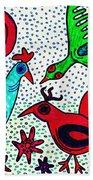 Mayan Birds Beach Towel