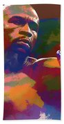 Mayweather Watercolor Beach Towel