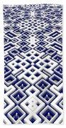 Maze Pattern Beach Towel