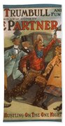 Mazie Trumbull And Her Fun Crowd Dads Side Partner Vintage Entertainment Poster 1908 Beach Towel