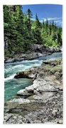 Mcdonald Creek 2 Beach Towel