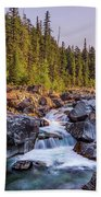 Mcdonald Creek Falls Beach Towel