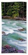 Mcdonald Creek Beach Towel by Gary Lengyel