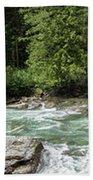 Mcdonald Creek Panorama Beach Towel