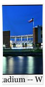 Mclane Stadium Print Beach Towel
