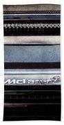 Mclaren 12c Spider Rear Emblem -0106ac Beach Towel