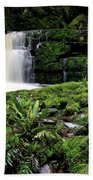 Mclean Falls In Southland New Zealand Beach Towel