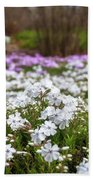 Meadow With Flowers At Botanic Garden In The Blue Mountains Beach Sheet