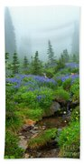 Meadows In The Mist Beach Towel