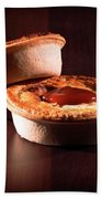 Meat Pies With Sauce And High Contrast Lighting. Beach Towel
