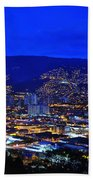 Medellin Colombia At Night Beach Sheet