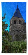 Medieval Bell Tower 1 Beach Sheet