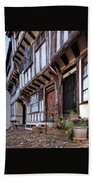 Medieval British Architecture - Dick Turpin's Cottage Thaxted Beach Towel