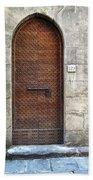 Medieval Florence Door Beach Towel