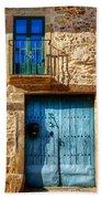 Medieval Spanish Gate And Balcony Beach Towel